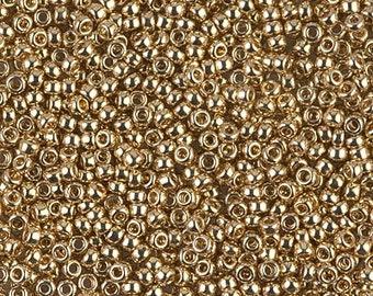 Seed Bead 11/0 24kt Gold Light Plated  #193  Miyuki - 10 grams