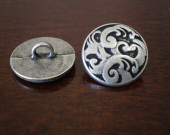 "3 - Allure Metal Buttons with Shank 5/8"" (16mm)"