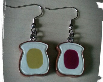 Cute Peanut Butter and Jelly earrings
