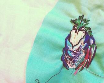 Tropical Bird 'Framed' Embroidery.