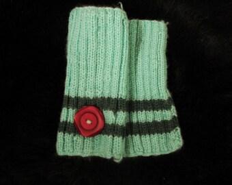 Mint Green Wrist Warmers