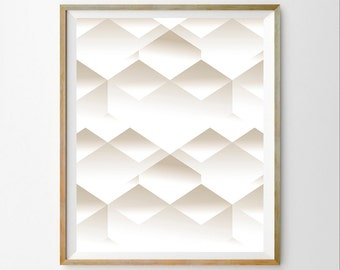 3D wall art decor 3D art decor Geometric wall art print Graphic art Modern print instant download Geometric wall art printable