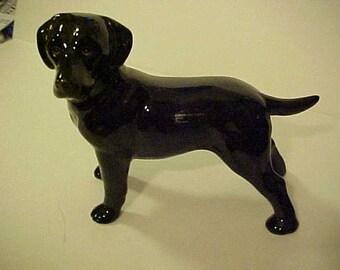 Vintage Coopercraft England Black Labrador Retriever Dog Figurine