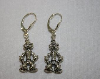 Popeye and Olive, Popeye Earrings, Olive Earrings, Silver Popeye, Silver Earring,Sterling Earrings, ,Everyday Wear Earrings,