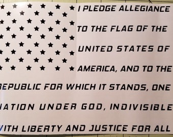 Pledge of Allegiance decal