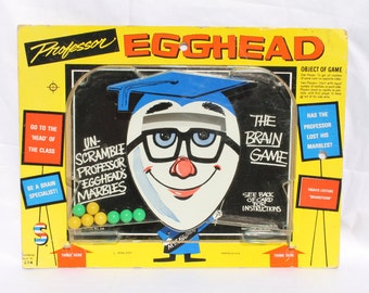 Vintage Professor Egghead Brain Game Smethport Specialty Co 1976 Pinball Marbles
