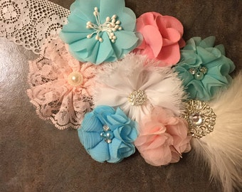 Maternity Sash - belly band/maternity photos/gender reveal/gender neutral/gender specific/handmade/customize