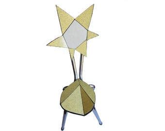 Formica, Origami of Lachaise: sculpture yellow flower