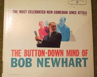 Bob Newhart record album- The Most Celebrated New Comedian since Attilla (the Hun) - The Button-down mind of Bob Newhart album ~ comedy gift