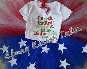 Patriotic Fourth of July tutu set