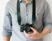 Leather camera strap leather hand camera strap for compact retro film cameras (Nikon, Canon, Leica, Sony etc.) Universal skinny camera strap