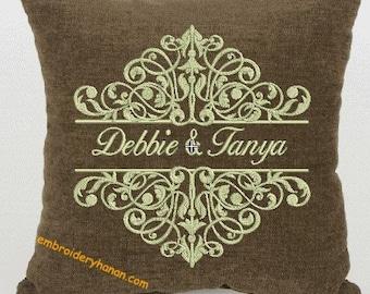 damask 02 split machine embroidery designs 3 size 5X7-6X10-7X12
