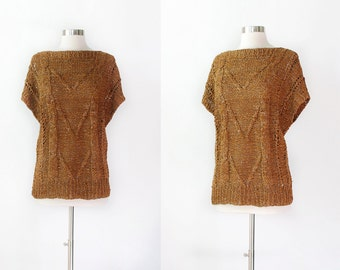 Vintage Knit Leather Tunic