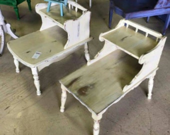 Vintage, double tiered side tables