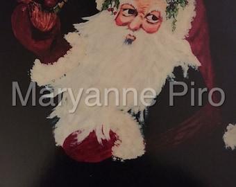 "Santa 8x10"" Colored Print"