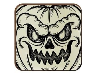 Jack O'Lantern Sketch coaster