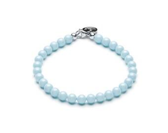 Swarovski ball bracelet • pastel blue