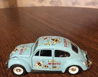 Vintage 'I love My Beetle' Toy Beetle Car