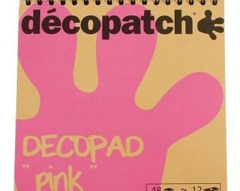 Decopatch Decopad Colour Block Pads Pink
