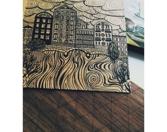 "Handmade card ""Amsterdam"""
