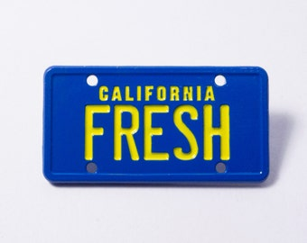Zato - Fresh Prince of Bel Air - Will Smith License Plate Pin - 90s Hip Hop Television