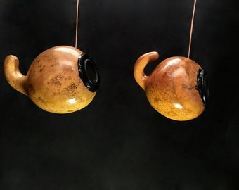 Gourd Speakers: Handmade HiFi Stereo Speaker System with Powerful Bluetooth Amplifier