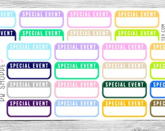 16 Special Event Stickers