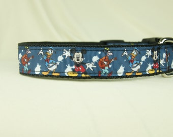 Splatted Mickey Friends dog collar - Free US Shipping