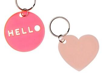 HELLO Key Rings