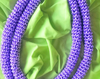 Pua Kalaunu, Purple Crown Flower Lei *FREE US SHIPPING*