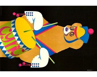 Vintage Polish Circus Poster - Majewski great Artwork ! Original poster from 1982
