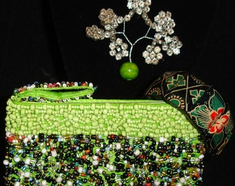 Bali beaded coin purse 3 Piece Gift Set