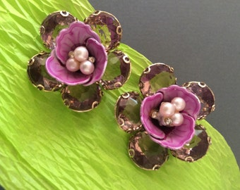 Haskell attributed Clip Earrings