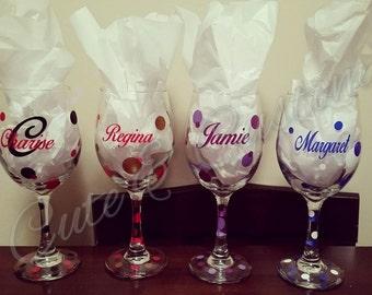 1 Personalized Wine Glass
