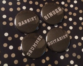 My band pin badges. Set of 4.