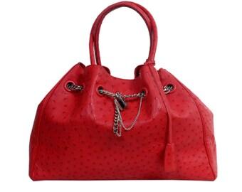 Lucia bag in ostrich