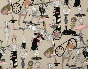 The Ghastlies Fabric / A Ghastle End / Taupe / Cotton / Sold by the Yard