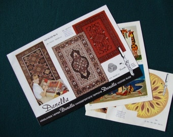 Rug Hooking Kits from Danella - Catalogues showing Finished Designs