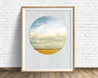 """landscape photography, large art, large wall art, instant download printable art, digital download, wall art, prints, clouds - """"Cloud Cover"""""""