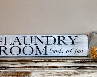 The Laundry Room...loads of fun wood sign
