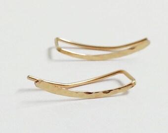 Ear Climbers Earrings, Ear Climber, Gold Ear Pins, Climber Earrings 20mm, Ear Crawlers, Earrings Pin, Gold Earrings, Earring Pins