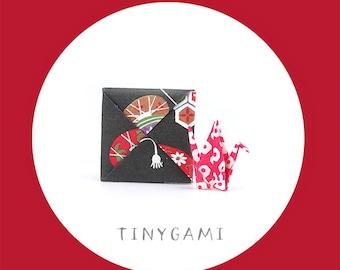 Tiny Origami Crane with Menko (TC-16-020)