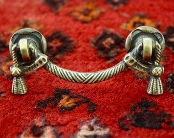 2x Brass Drawer Pull/ Handle, Rope & Tassle , Vintage, Rustic