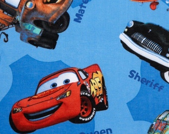 Disney Pixar Cars Lightning McQueen Fabric, Disney fabric, cars, cartoon fabric, Pixar