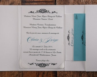 spanish invitation | etsy, Wedding invitations