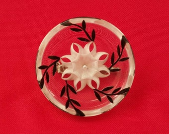 Vintage lucite pin