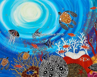 The Great Barrier Reef, Contemporary Aboriginal Art Print