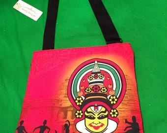 Handbag; Vibrant Colour,kathakali Dancer Indian Style Bag