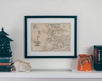 Map of Redwall: Aged, Handmade, Hand drawn, Authentic Gift