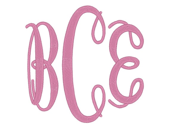 3 size jumbo oval monogram 3 letters embroidery font bx fonts